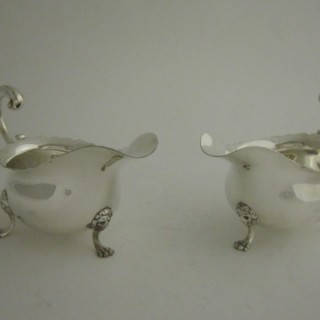 Antique Edwardian Sterling silver sauce boats