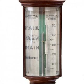 Georgian Bow-Front Stick Barometer