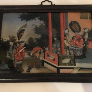 Seven Chinese Reverse Glass Paintings