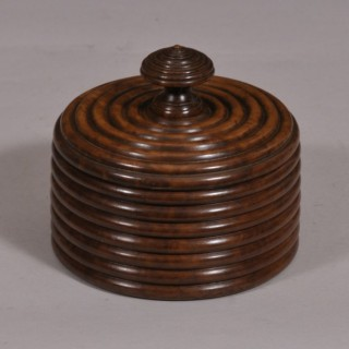 Treen 20th Century Thuya Burr Wood Lidded Container