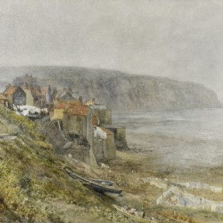 Alfred William Hunt - Robin Hood's Bay - watercolour