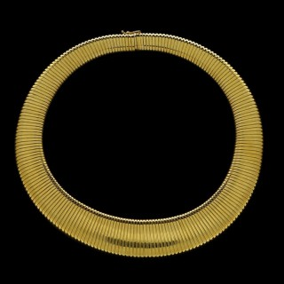 Cartier Wide Flattened Gas-pipe Link necklace  Circa.1950s