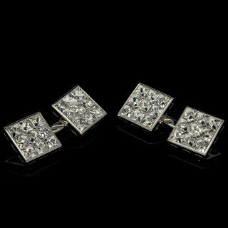 Hancocks Pair of Elegant Diamond Cufflinks