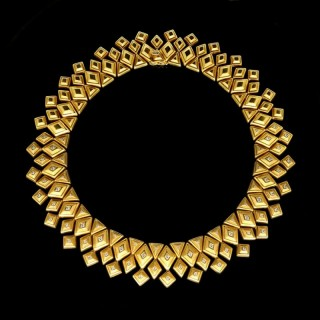 Ilias Lalaounis Geometric Necklace  circa 1970s