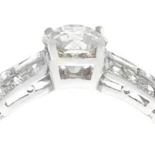 1.20 ct Diamond and Platinum Dress Ring - Vintage Circa 1940