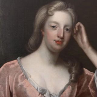 Exceptional 9ft Oil on Canvas Portrait