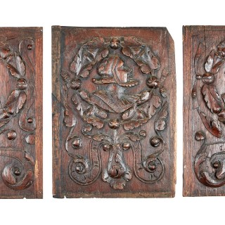 Henry VIII oak portrait panels