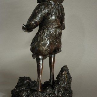 Late 19th century Chinese bronze of a wild man