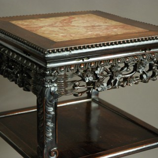 Late 19th century square Chinese pot stand