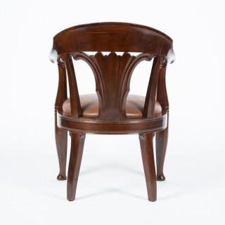 Mahogany armchairs