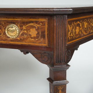 FLORAL INLAID WRITING TABLE