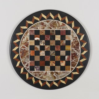 A French Gueridon Chess Table