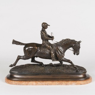 An Equestrian Sculpture After Pierre-Jules Mêne