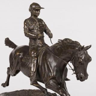 An Equestrian Sculpture After Pierre-Jules Mêne