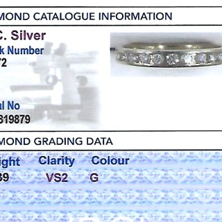 0.39ct Diamond and 14ct Yellow Gold Half Eternity Ring - Vintage Circa 1990