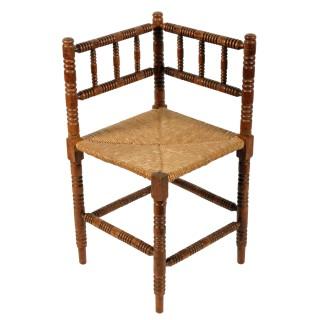 Bobbin Turned Corner Chair