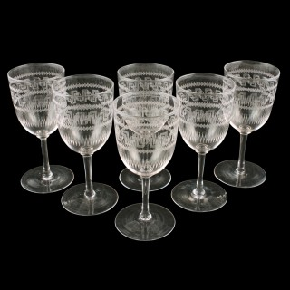 Six Edwardian Sherry or Port Glasses