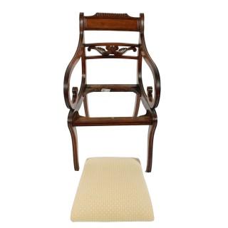 Regency Mahogany Sabre Leg Elbow Chair