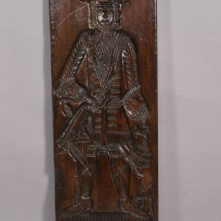 Antique Treen 18th Century Birch Double Sided Gingerbread Mould
