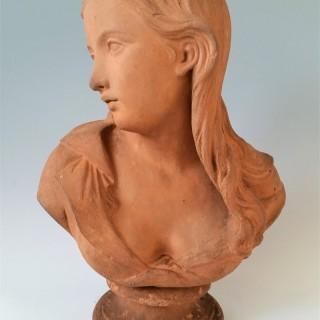 Terracotta bust of Dorothea by John Bell  1875