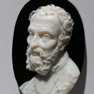 Hardstone cameo portrait of Michelangelo c.1800
