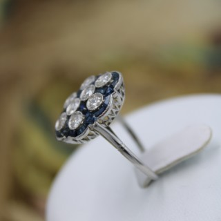 A very unusual Platinum & Diamond & Sapphire
