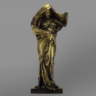 A Bronze Figure of 'La Nature Se Dévoilant Devant La Science' By Louis-Ernest Barrias