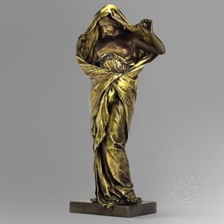 A Bronze Figure of 'La Nature Se Dévoilant Devant La Science' By Louis-Ernest Barrias