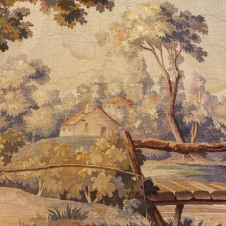 An Aubusson Tapestry Depicting A Pastoral Scene