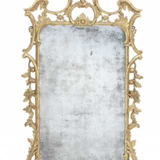 George III Giltwood Mirror in the Manner of Thomas Johnson