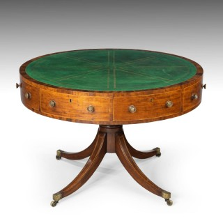 A Regency Period Revolving Drum Table