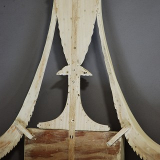 Finely carved 19th century pine mirror in the Adam style