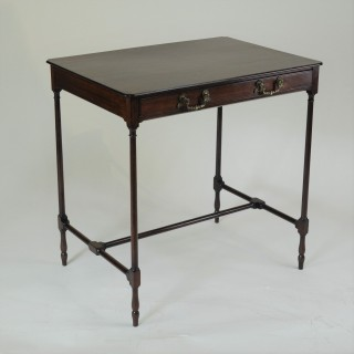 Fine George III period mahogany 'spider-leg' side table
