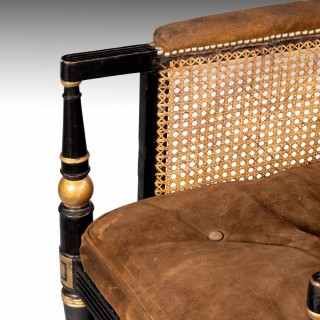 A Fine and Large Regency Period Bergere Chair
