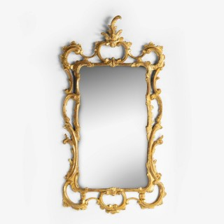 A Classical Chippendale Period Giltwood Rococo Mirror