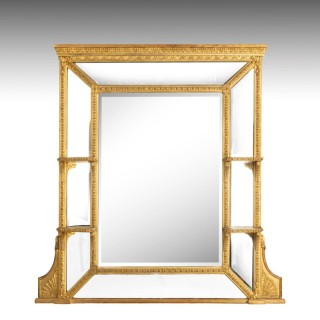 A Fine Quality Late 19th Century Giltwood Overmantle Mirror