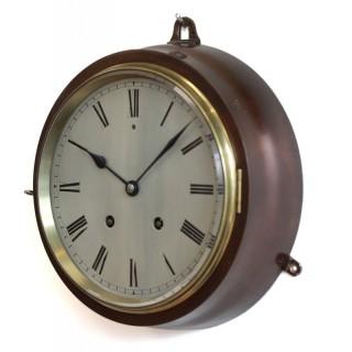 Rare French striking bulkead clock, Gay Vicarino