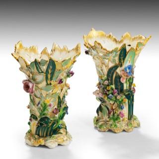 A Fine Pair of Mid 19th Century Coalbrookdale Vases