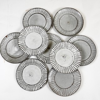 33 Ceramic plates, dishes & serving bowls by Albert Thiry