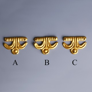 Selection of Viking Gold Appliques with Floral Design