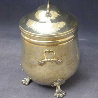 Late Victorian Brass Coal Bin