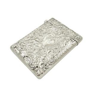 Antique Edwardian Sterling Silver Card Case 1903