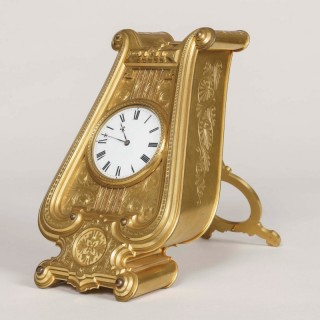 A Rare Strut Clock Designed by Thomas Cole