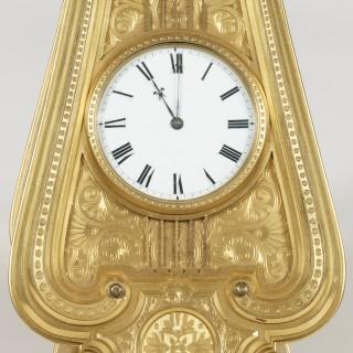 A Rare Strut Clock Designed by Thomas Cole