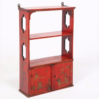 Chinoiserie Red Lacquer Cabinet