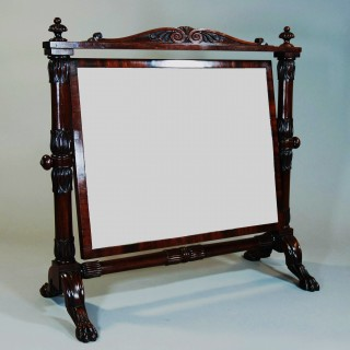 Superb quality 19th century Cuban mahogany cheval table mirror