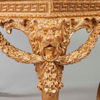 A Pair of Gilt Console Tables In the Manner of William Kent