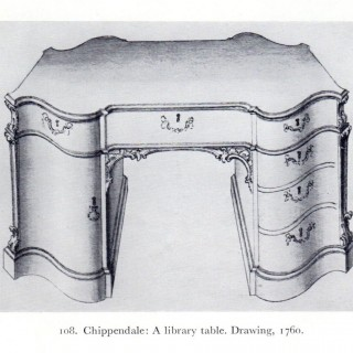 An Oak Pedestal Desk After a Design by Thomas Chippendale