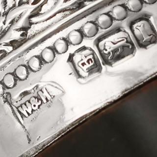 Sterling Silver, Steel and Antler Carving Set - Antique Edwardian (1903)