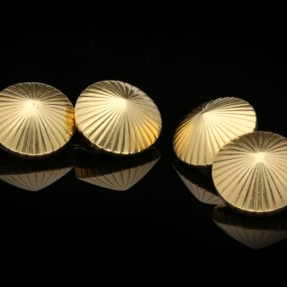 Cartier conical gold cufflinks, French, circa 1940.